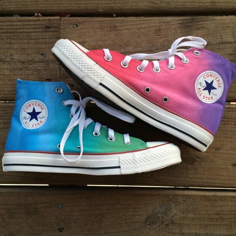 849e3b62bf3a7f Tie Dye Pastel Custom Converse High Top Shoes
