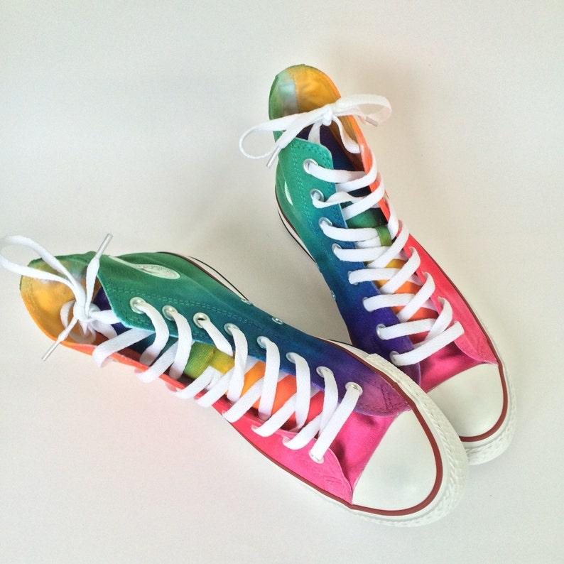 3dc4bfdb4ddc Tie Dye Converse Rainbow HIGH TOP Custom Shoes