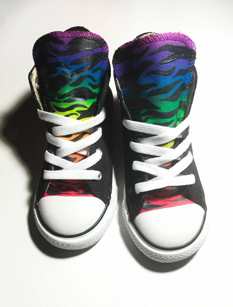 280c9d7e31fd Kids Rainbow Zebra Print Converse for Youth