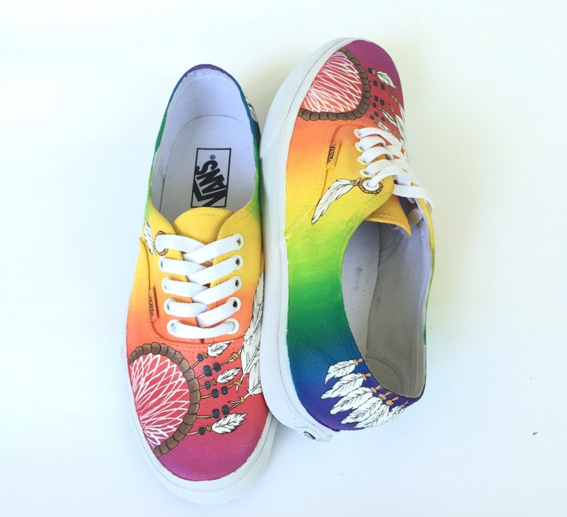 de7f89afe1 Rainbow Dreamcatcher Custom Vans Shoes Hand Painted Vans Dream