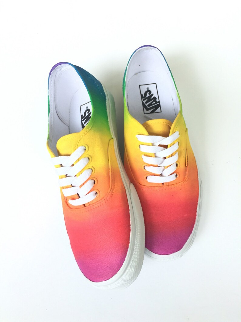 5a422c6339 Rainbow Ombre Custom Vans Shoes Hand Painted Vans