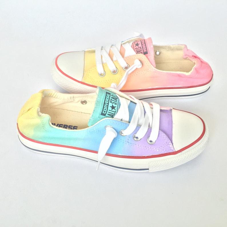 f819b3fe6a92 Shoreline Custom Converse Pastel Rainbow Tie Dye Shoes