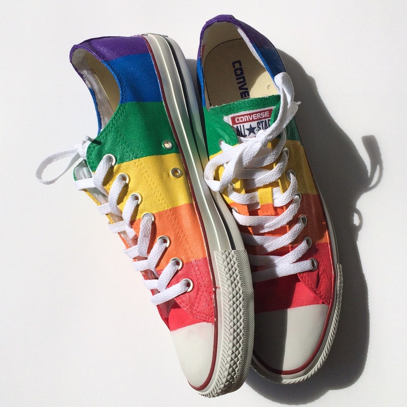 95e962fc29ca2c Rainbow Gay Pride Custom Converse Shoes