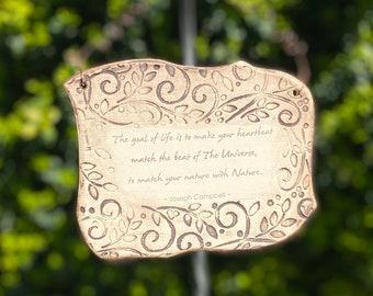 Joseph Campbell Inspirational Quote Ceramic Plaque