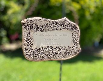 William Shakespeare Inspirational Quote Handmade Ceramic Plaque