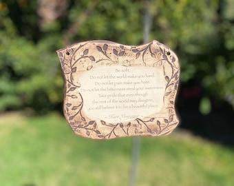 Handmade Kurt Vonnegut Inspirational Quote Ceramic Plaque