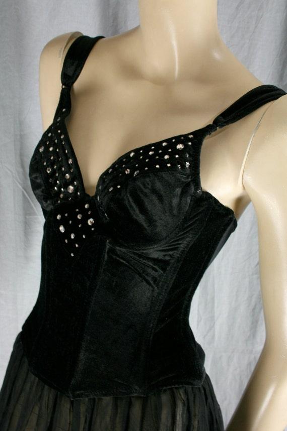bustier embellished velvet