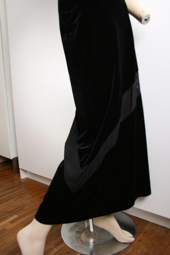 Express Tricot Black Velvet Sheer Panel Stripe Ma… - image 3