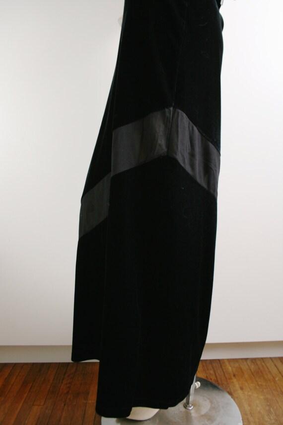 Express Tricot Black Velvet Sheer Panel Stripe Ma… - image 4