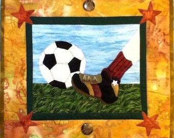 World Cup art quilt pattern  : football quilt pattern