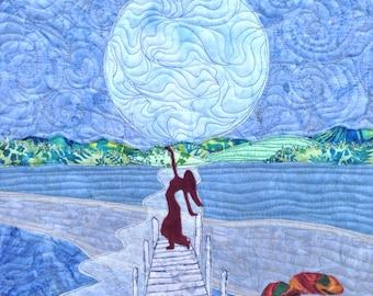 art quilt pattern tutorial : dancing in the moonlight