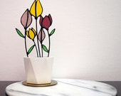 Custom Order Stained glass Tulip
