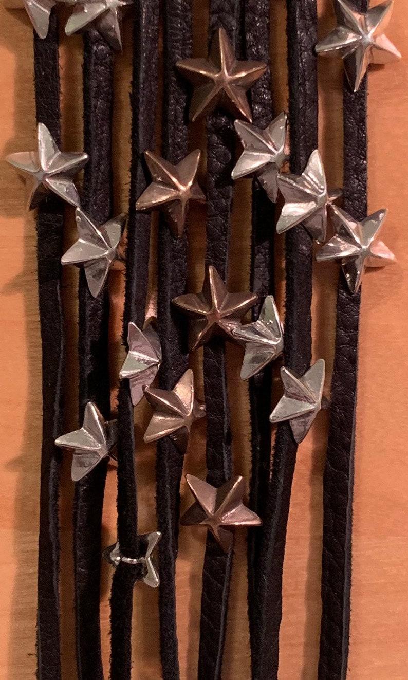 Bronze /& Leather Star Wrap Bracelet