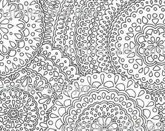 Five Mandala Coloring Pages Adult Coloring Colouring Book Etsy