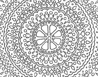 Due pagine da colorare stampabili adulto di mandala for Stampabili da colorare