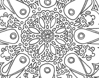 Large Mandala Printable Adult Coloring Page