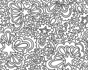 Pagina da colorare stampabili adulto fulmini e cuori etsy for Stampabili da colorare