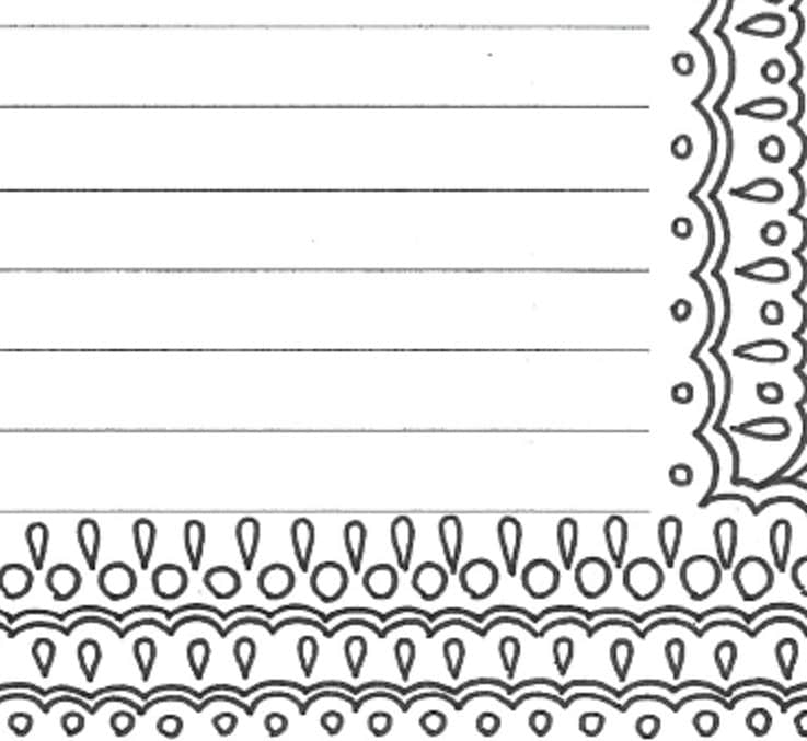 picture regarding Free Printable Stationary Pdf identified as Included creating paper stationery site, printable grownup coloring web site