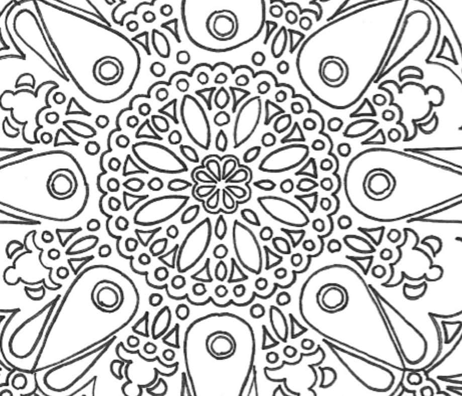 Grand mandala imprimer coloriage adulte etsy - Grand mandala ...