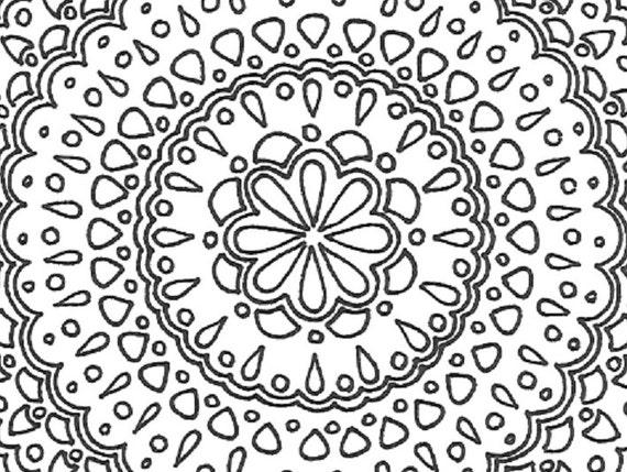 Volwassen Kleurplaten Mandala.Afdrukbare Volwassen Kleurplaat Mandala