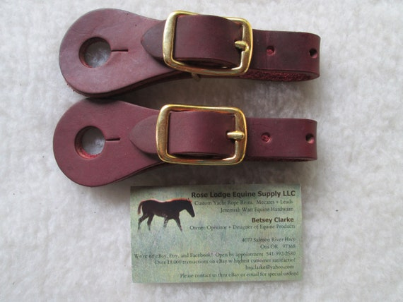 Buckle On TAN Slobber Straps w Jeremiah Watt Stainless Steel Floral Oval Cart Buckles for Mecate Reins