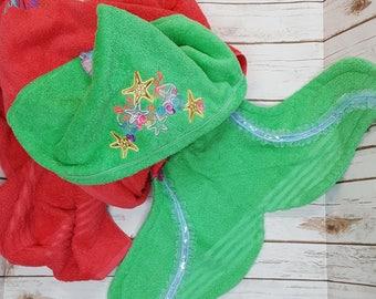 Mega Super size extra large hooded beach pool towel blanket swim chair cover mermaid shark nemo fish adult teen tween girl boy