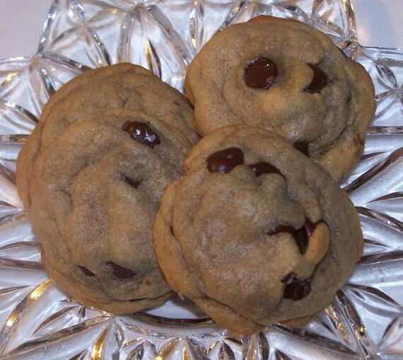 One Dozen Chocolate Chip Cookies Etsy