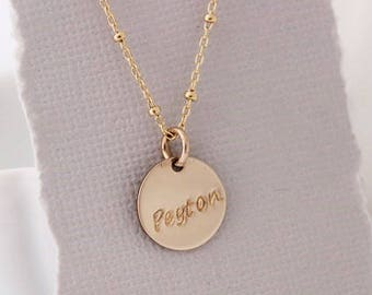 gold mothers necklace, one name, gold jewelry, mommy necklace, personalized jewelry, gift for her, inspirational word