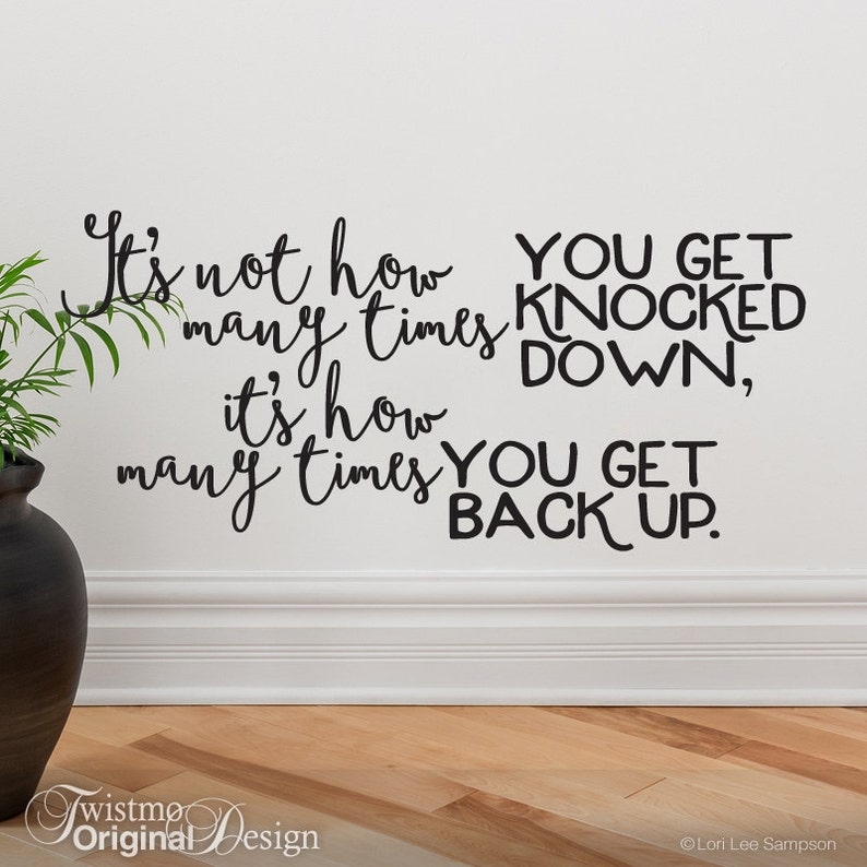Motivational Wall Decor Get Knocked Down Get Back Up Wall Etsy
