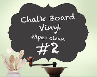 Kitchen Decor, Kitchen Chalkboard Decal, Wall Chalk Board Room Decor, Curvy Shape 02