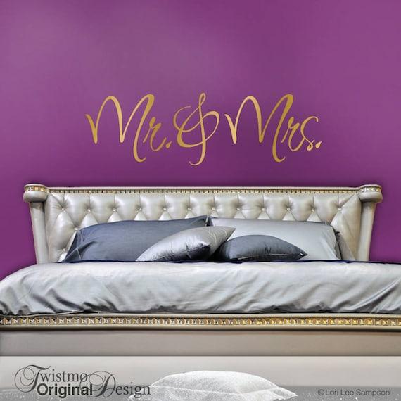 Mr and Mrs Wall Decor Romantic Bedroom Decor Bedroom Wall   Etsy