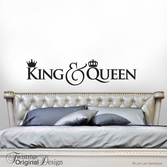 King And Queen Crown Decor Bedroom Decor Wall Decal Gift