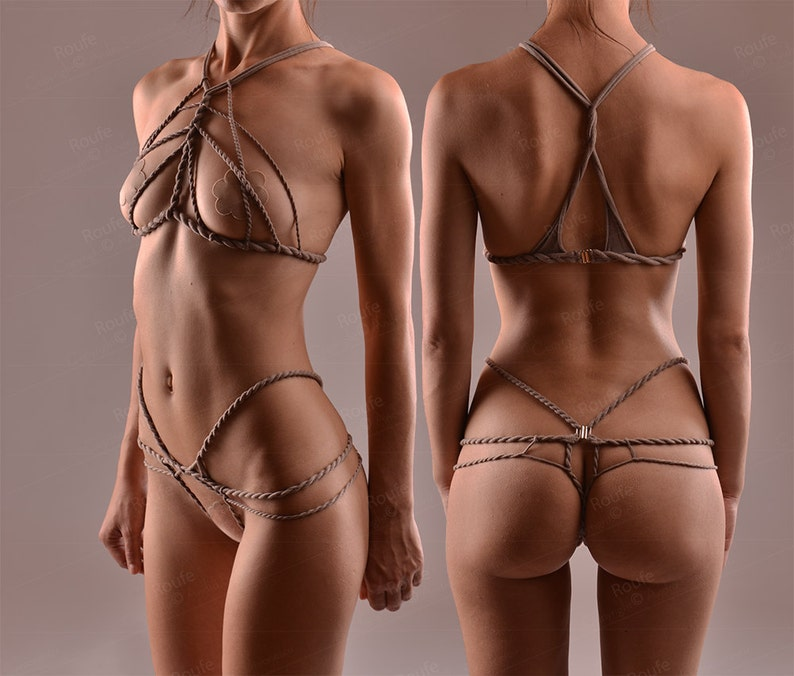 6629940aad Stretch Shibari set Stretch Rope Harness Set Crotchless