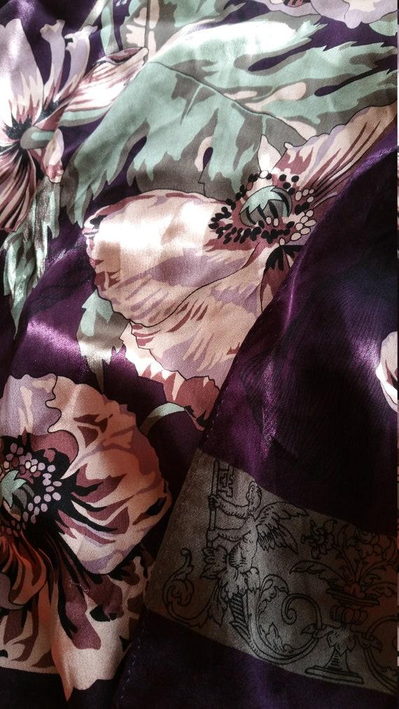Poppy Beauty long silk scarf purple