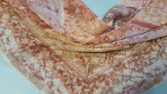 Vintage ECHO chiffon long silk - image 1