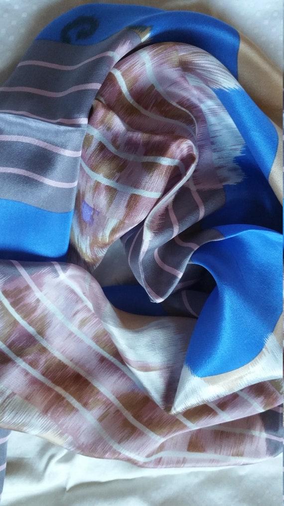 Sky Blue Kenzo silk Scarf designer