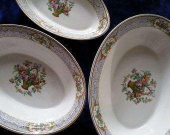 3 Johnson Bros Bowls set floral