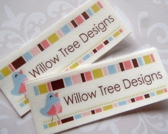 Custom Sew in Fabric Labels - Your logo and text - 30 LABELS