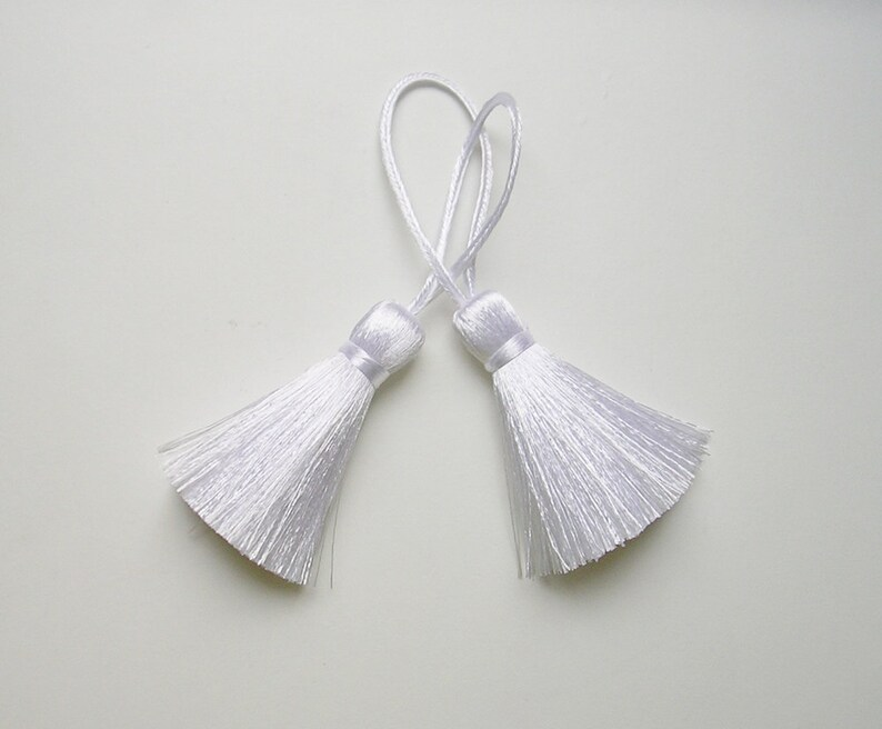 Burgundy Tassel Silk Handmade Dangle Trim Fringe Jewelry Making Fashion Pendant Sewing Embellishments 2 Pieces