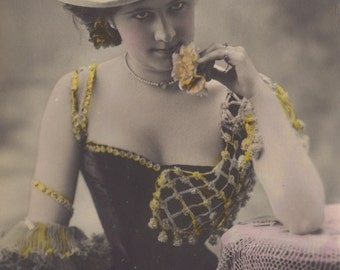 Belle Epoque Stage Performer Mlle. Gillet, by Stebbing, circa 1900