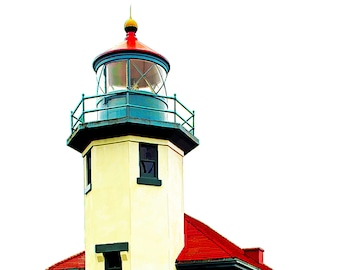 "Pt Robinson Lighthouse; Fine Art Print Available in 5x7"", 8x10"", 11x14"", 13X19"""