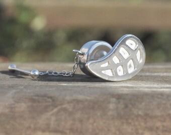cfd339403f1b Sterling Silver Tie Tack Tie Pin 925 Silver Handmade Leaf Emerald Isle  Irish Ireland