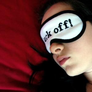 Neon F Adult face mask Shameless sleepmask Orange pink eyemask Mature blindfold gift for her ck Off Sleep Mask Text sleeping eye mask