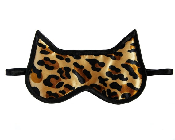 Black Blindfold Cat Sleep Mask Mother Day Gift Cat Lover Gift Pajama Party Supplies Floral Eye Mask