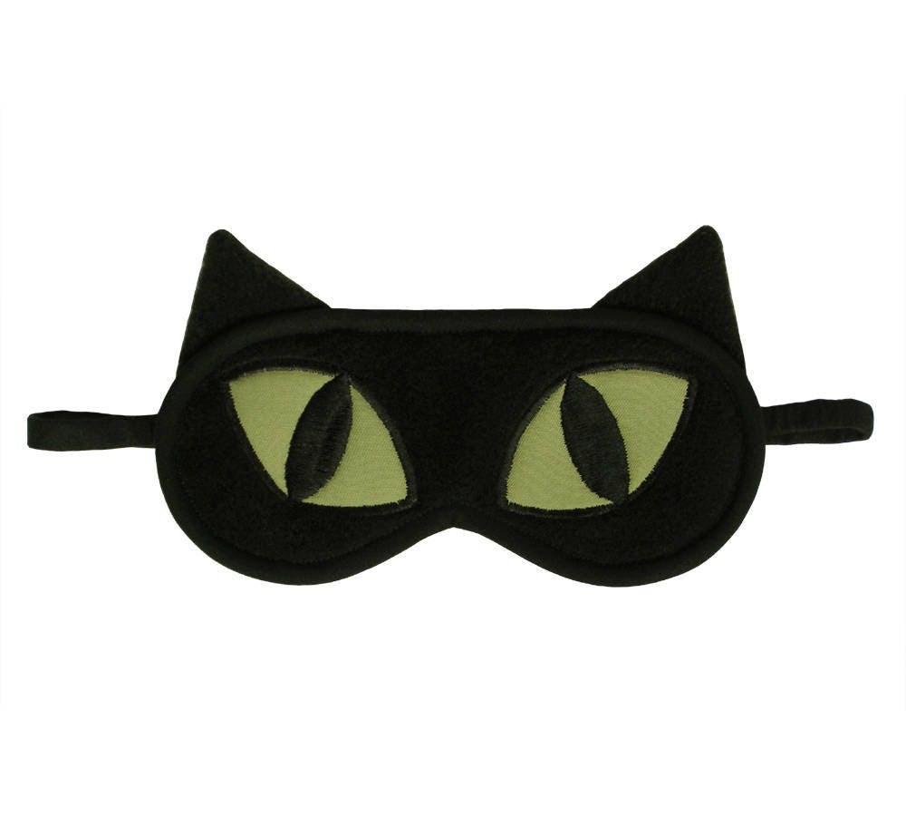 832d1c4373 Cat Sleep Mask Black cat blindfold Eye pillow Animal sleep