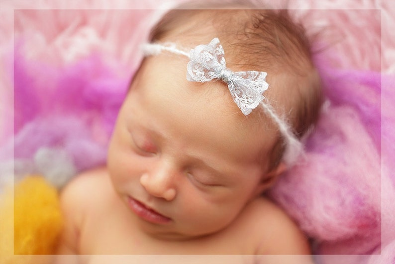 Dainty newborn toddler tieback photography prop,baby girl gift headband,pink grey toffee lace bow tieback prop,toddler tieback prop,RTS