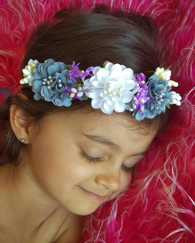 Newborn Haloflower Crownfloral Flower Headpieceboho Spring Etsy