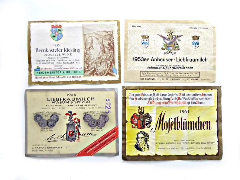 12 German Wine Labels Vintage