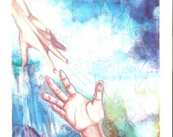Hands Across the Sky, Ltd Edition print, art print, ooak