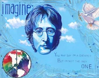 Imagine, OOAK, Art Print